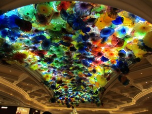 Glass ceiling at the Bellagio.